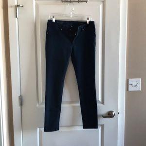 "DL1961 ""Emma"" cropped, skinny dark denim jean"